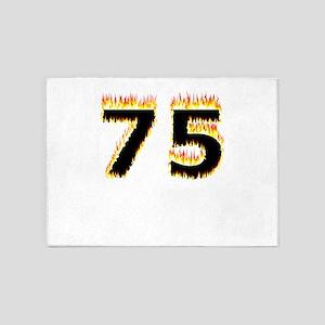 75 (Flames) 5'x7'Area Rug