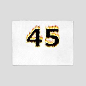 45 (Flames) 5'x7'Area Rug