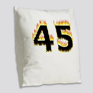 45 (Flames) Burlap Throw Pillow