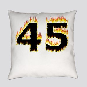 45 (Flames) Everyday Pillow