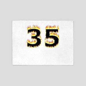 35 (Flames) 5'x7'Area Rug