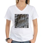 Real Bear Track Women's V-Neck T-Shirt