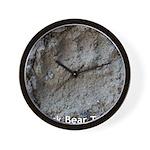 Real Bear Track Wall Clock