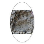 Real Bear Track Oval Sticker