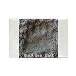Real Bear Track Rectangle Magnet (10 pack)