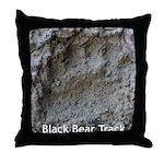 Real Bear Track Throw Pillow