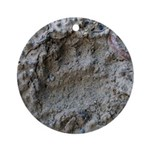 Real Bear Track Ornament (Round)
