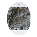 Real Bear Track Oval Ornament