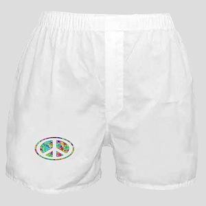 Peace Symbol Groovy Boxer Shorts