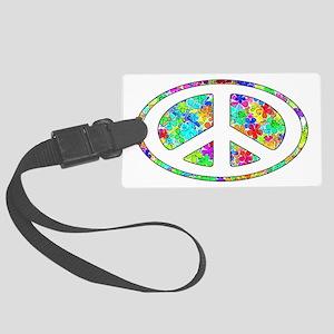 Peace Symbol Groovy Large Luggage Tag