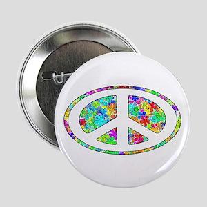 "Peace Symbol Groovy 2.25"" Button"