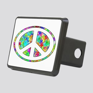 Peace Symbol Groovy Rectangular Hitch Cover