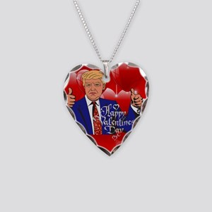 valentines day donald trump Necklace Heart Charm