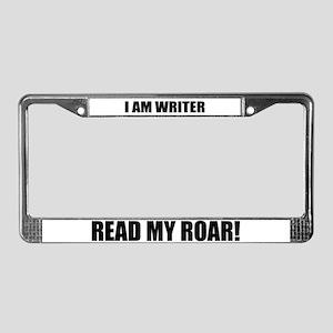 I am Writer License Plate Frame