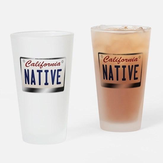 california_licenseplates-native2.pn Drinking Glass