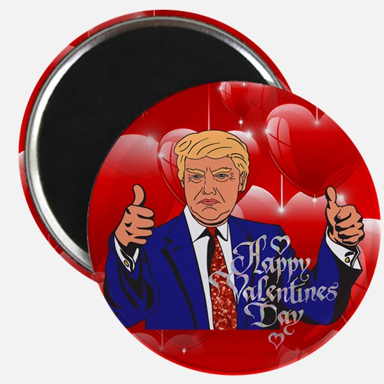 valentines day donald trump Magnets