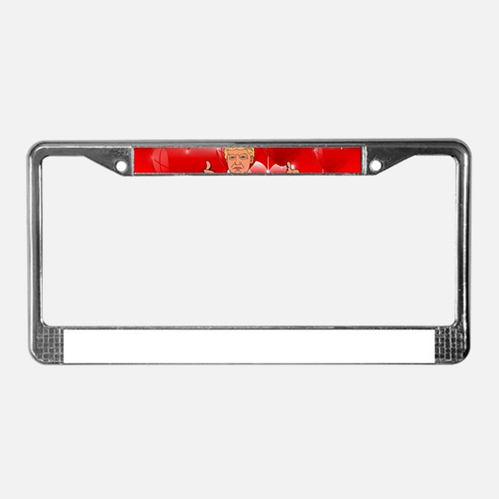 valentines day donald trump License Plate Frame