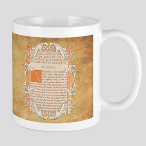 Dante's Inferno Frontispiece Parchment Mugs