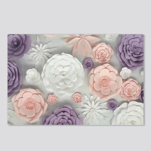 pastel purple pink floral Postcards (Package of 8)