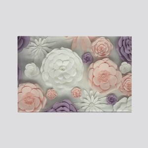 pastel purple pink floral Magnets