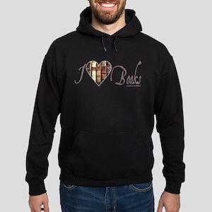 I Heart Love Books Brown Rustic Sweatshirt