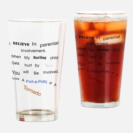 Cute Kids tornado Drinking Glass