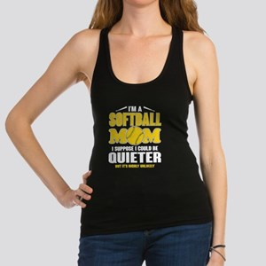 Super Softball Mom T Shirt Tank Top