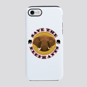 Save the Elephants iPhone 8/7 Tough Case