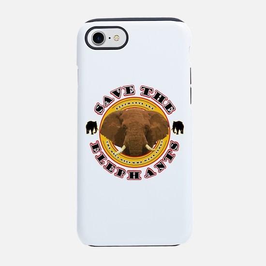 Save the Elephants iPhone 8/7 Tough Case