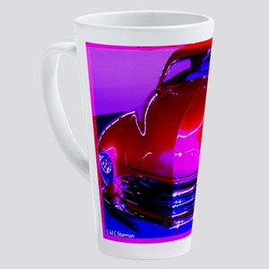 Bright, red car! Photo! 17 oz Latte Mug