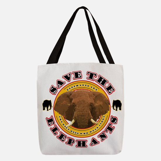 Save the Elephants Polyester Tote Bag