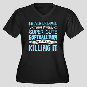 Super Cute Softball Mom T Shirt Plus Size T-Shirt