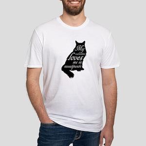 Valentine Cat loves Sweatpants T-Shirt