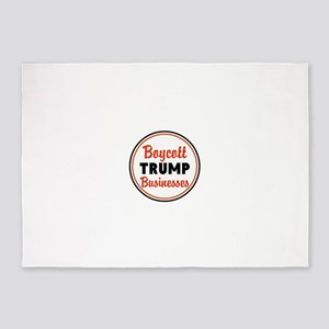 Boycott Trump businesses 5'x7'Area Rug