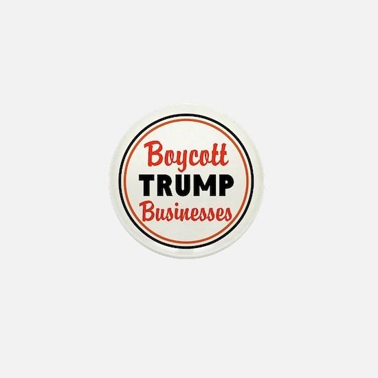 Boycott Trump businesses Mini Button