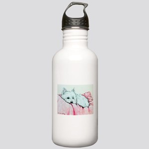 Sleepy Westie Stainless Water Bottle 1.0L