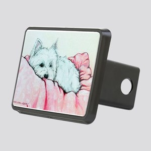 Sleepy Westie Rectangular Hitch Cover
