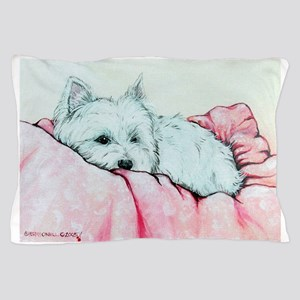Sleepy Westie Pillow Case