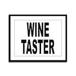 Wine Taster Framed Panel Print