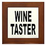 Wine Taster Framed Tile