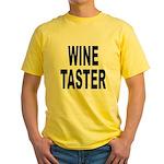 Wine Taster Yellow T-Shirt
