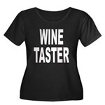 Wine Taster (Front) Women's Plus Size Scoop Neck D