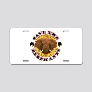 Save the Elephants Aluminum License Plate