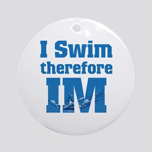 Swim Im Round Ornament
