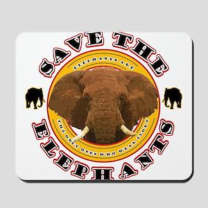 Save the Elephants Mousepad