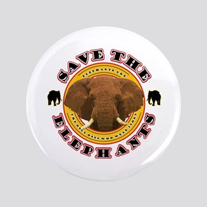 "Save the Elephants 3.5"" Button"