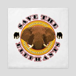 Save the Elephants Queen Duvet