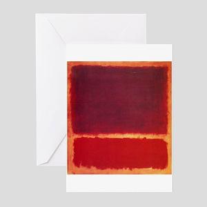 ROTHKO ORANGE RED Greeting Cards