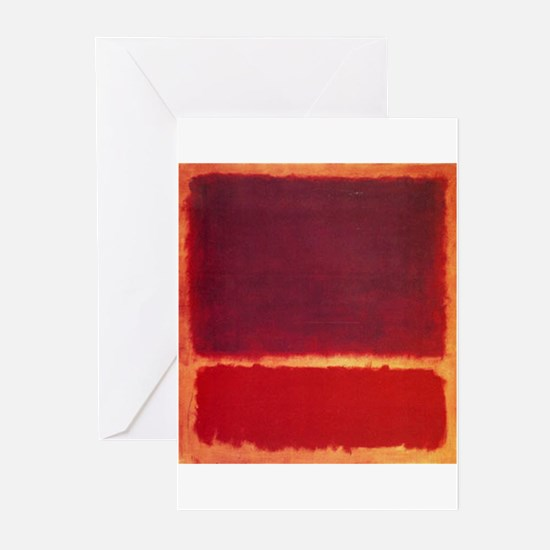 ROTHKO ORANGE RED Greeting Cards