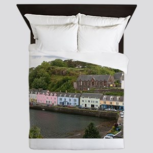 Portree, Isle of Skye, Scotland Queen Duvet